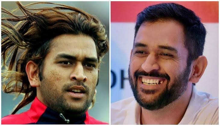 Image result for dhoni long hair""