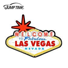 Jumptime 13cm X9 7cm For Welcome To Las Vegas Custom Vinyl Stickers Car Window Bumper Decal Waterproof Car Sticker Accessories Car Stickers Aliexpress
