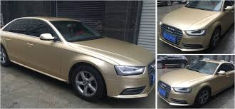 Factory Direct High Quality Champagne Gold Matte Chrome Vinyl