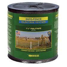 Safe Fence 1 Electric Tape 825 Black
