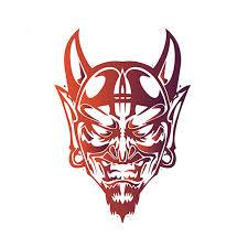 Szwl Devil Satan Face Evil Demon Lucifer 666 Car Sticker Waterproof Sunscreen Vinyl Sticker Auto Bumper Decal Jdm 12cm 7cm Car Stickers Aliexpress