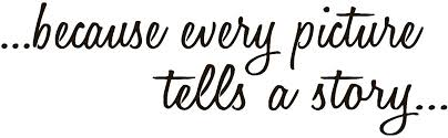 Amazon Com Because Every Picture Tells A Story Vinyl Sticker Decal 10 X 3 Black Arts Crafts Sewing