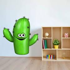 Zoomie Kids Funny Little Cactus Wall Decal Wayfair