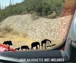 African Safari Windshield Jeep Corner Chaser Decal Jeep Wrangler Window Vinyl Decals