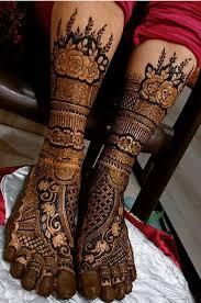Mehndi Design On Legs Images