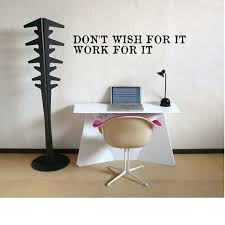 Don T Wish For It Work For It Typewriter Wall Decal Etsy Wall Decals Textured Walls Typewriter