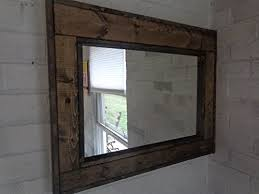 reclaimed wood mirror large wall