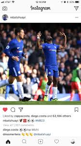 "Top Michi"" - Diego Costa shows Michy some love on Instagram : chelseafc"