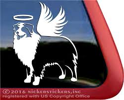 Memorial Angel Australian Shepherd Dog Decals Stickers Nickerstickers