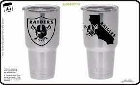 Oakland Raiders Nation Set Of 2 Vinyl Decal For Yeti Tumblers Nfl Sticker Vinyl Tumblers Diamond Decals Yeti Tumbler