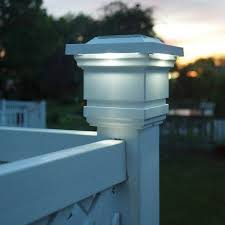 4 X 4 Solar Lighted Post Cap By Rockler 39 99 Solar Panel Soaks Up The Sun And Provides Up To 10 Hours Solar Lamp Post Light Vinyl Fence Solar Post Caps