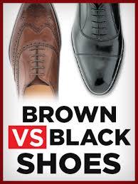 dress shoes color brown vs black
