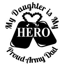 Proud Army Dad Decal Dog Tags Rangers Scouts 101 Car Truck Suv Wall Vinyl Window