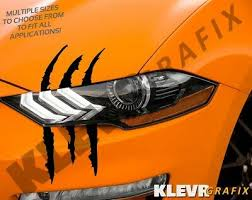 Ford Mustang Claw Scratch Marks Monster Universal Vinyl Scar Decal Cars Cobra Gt Ebay