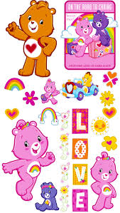 Brewster Wallcovering Care Bears Appliques Wallpaper
