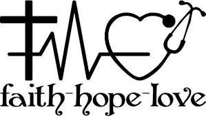 Faith Hope And Love Vinyl Decal With A Cross Heart Rhythm And Stethoscope For Car Window Door Silhouette Vinyl Silhouette Cameo Projects Faith Hope Love