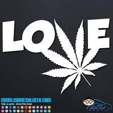 Marijuana Love Vinyl Car Decal Sticker Graphic Pot Decals
