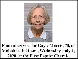 Funeral Service for Gayle Morris July 1, 2020