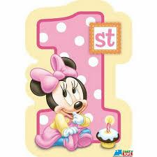 Resultado De Imagen De Minnie Mouse Baby Primer Ano Tarjetas De