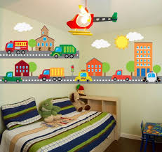 Construction Transportation Car Truck Wall Decals Kids Etsy In 2020 Kids Room Wall Decals Wall Decal Boys Room Kids Wall Decals