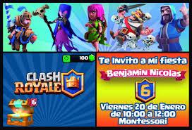Invitacion Clash Royale Con Imagenes Tarjeta De Cumple