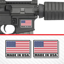 2x Made In Usa American Flag Sticker Vinyl Decal Ar 15 Lower Tactical Survival Ebay