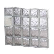 dryer vented glass block windows
