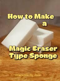 how to make a magic eraser type sponge