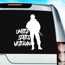 United States Veteran Soldier Vinyl Car Truck Window Decal Sticker