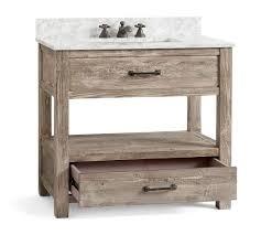 reclaimed wood single sink vanity