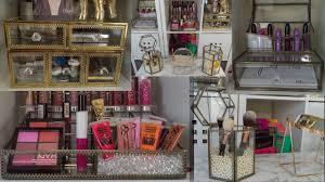 glam makeup storage organization