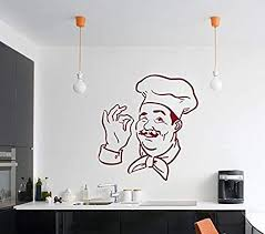 Amazon Com Vinyl Wall Decal Chef Print Removable Vinyl Home Decor Picture Art Decal Hds4319 Home Kitchen
