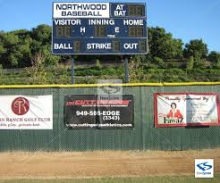 Baseball Softball Banners Signs For Outfield Fence Dugout Or Batting Cages