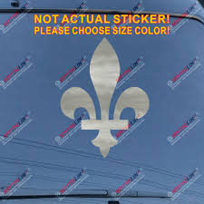 Quebec Fleur De Lys Decal Sticker Flag Canada Car Vinyl Pick Size Color