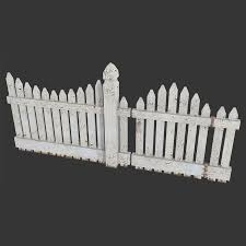 Low Poly Wooden Fence For Gamedev 3d Model In Environment 3dexport