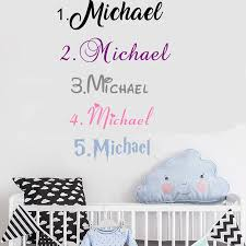 Diy Personalized Name Customized Wall Decal Boys Room Nursery Kids Room Bedroom Wall Decor Sticker Vinyl Art Home Decor D88 Wall Stickers Aliexpress