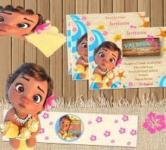 Kit Imprimible Moana Bebe Candy Bar Editable 120 00 En Mercado