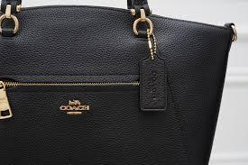 real leather handbag coach
