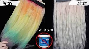 removing hair color no bleach baking