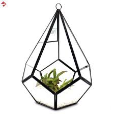 geometric stained glass planter boxes