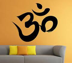 Om Symbol Wall Decal Buddha Vinyl Sticker Indian Art Home Mural Decor 4io4s Ebay