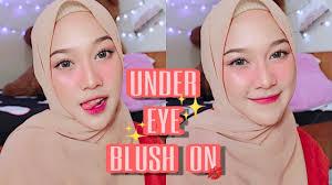 blush on under eye makeup tutorial