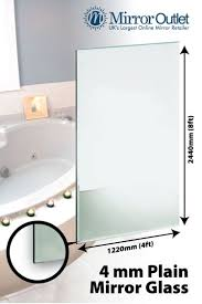 large bathroom mirror 4mm thick 8ft x