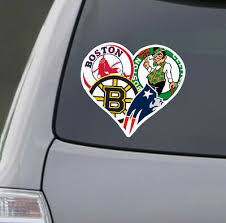 Love Boston Sports Car Sticker Decal Patriots Celtics Red Soxs Bruins Ebay