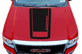 Gmc Sierra 2014 2017 Custom Vinyl Hood Decal Wrap Kit Sierra V1 Factory Crafts
