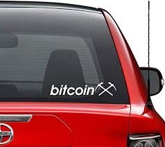 Amazon Com Bitcoin Miner Cryptocurrency Vinyl Decal Sticker Car Truck Vehicle Bumper Window Wall Decor Helmet Motorcycle And More Size 7 Inch 18 Cm Wide Color Gloss White