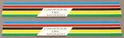 Grandis Bicycle World Champion Stripes Decals 1 Pair Velocals