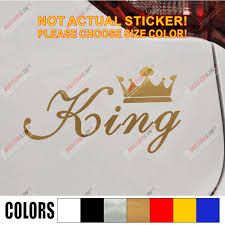 King Crown Gold Queen Crown Gold Funny Car Car Decal Sticker Vinyl Truck Boat Die Cut No Background Car Decal Sticker Sticker Vinyldecal Sticker Aliexpress