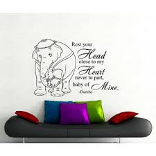 Handmade Dumbo Quote Wall Decal Rest Your Head Disney Vinyl Sticker Nursery Decor 154ct