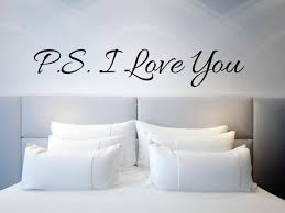 Wall Sticker Quotep S I Love You Wall Above Bed Etsy